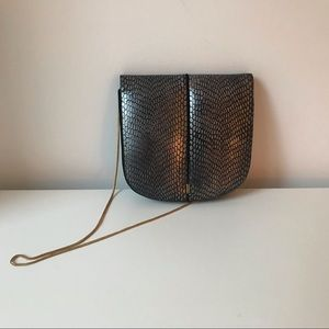 Vintage Clutch Leather & Suede made in France